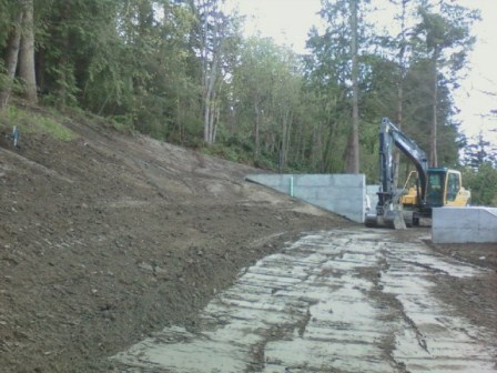 Superb Rough Cut Of New Access Road Plateau On Moderate Slopes.